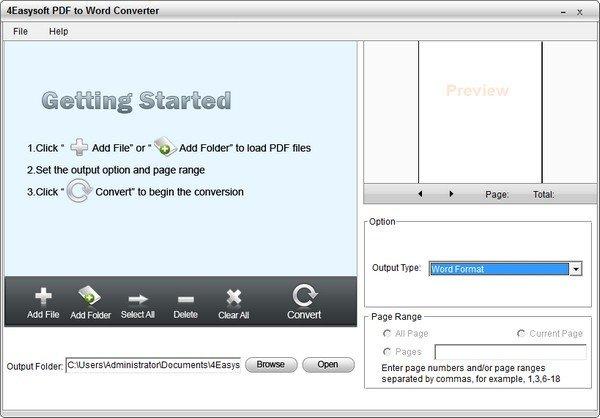 4Easysoft PDF to Word Converter(PDF转Word软件)