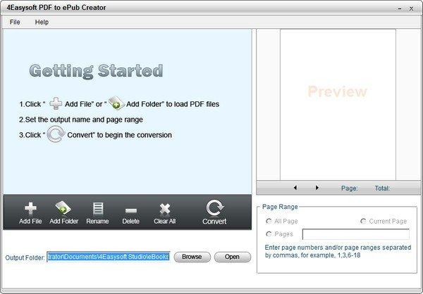 4Easysoft PDF to ePub Creator(PDF转电子书软件)